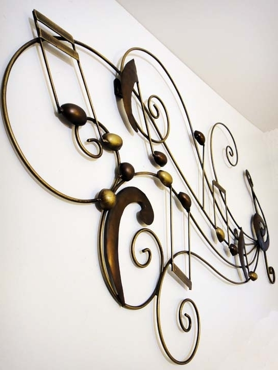 Music Metal Wall Art Musical Metal Sculptures Music Wall Art With Intended For Recent Metal Music Notes Wall Art (View 12 of 15)