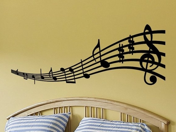 Music Note Art For Walls With Regard To Newest Music Notes Wall Art Musical Decal Note Etsy Il 570Xn  (View 9 of 15)