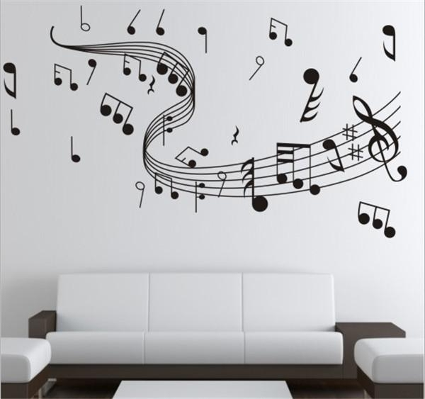 Music Note Wall Art Decor For 2018 Brand New Diy Wallpaper Music Note Wall Stickers For Creative Wall (View 3 of 15)