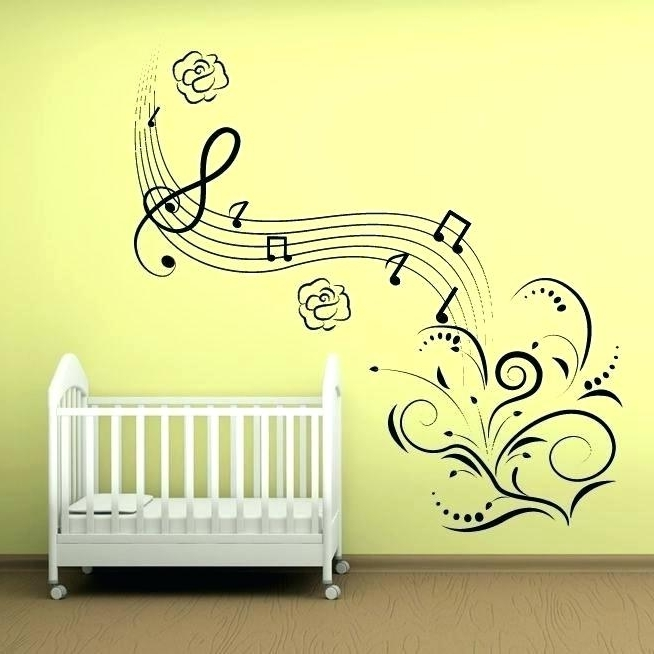 Music Note Wall Art Regarding Well Known Music Theme Wall Art Music Note Wall Art Babies Decoration Wall Art (View 11 of 15)