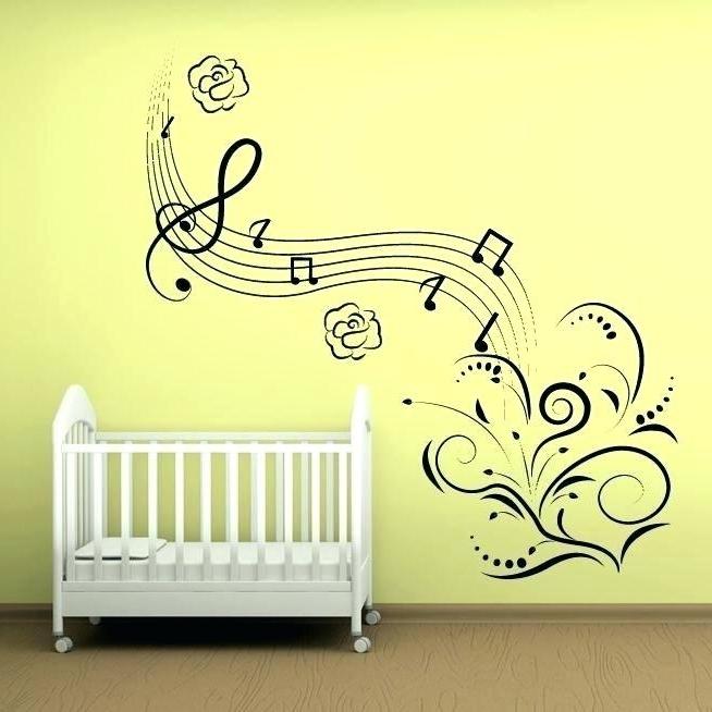 Music Note Wall Art Regarding Well Known Music Theme Wall Art Music Note Wall Art Babies Decoration Wall Art (View 10 of 15)