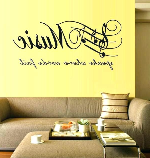 Music Note Wall Decor Music Notes Wall Art Musical Wall Art Decor Throughout Most Current Music Note Art For Walls (View 10 of 15)