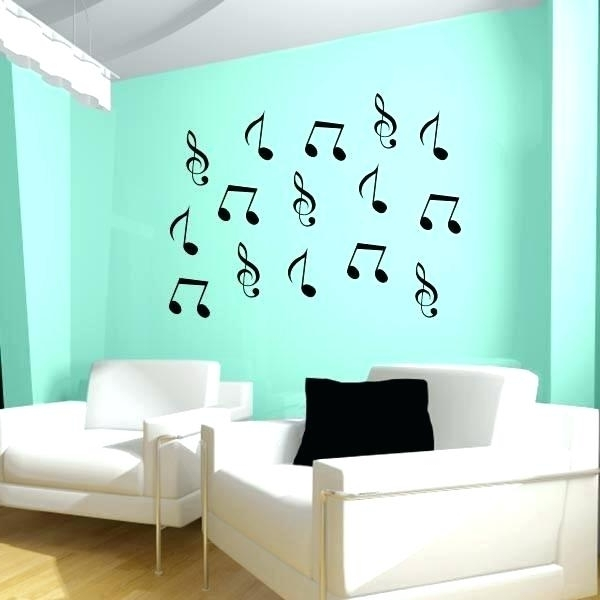 Music Notes Wall Decorations Note Art Awesome Idea Decor Musical Within Favorite Music Note Wall Art (View 12 of 15)