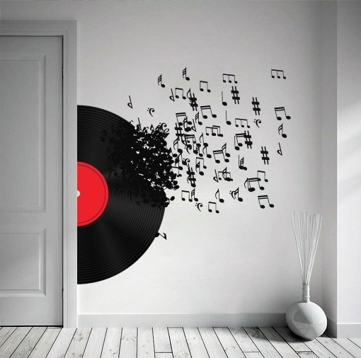 Music Theme Wall Art in Well-known Wall Art Ideas Design Sets Awesome Music Multi Panels Beauteous