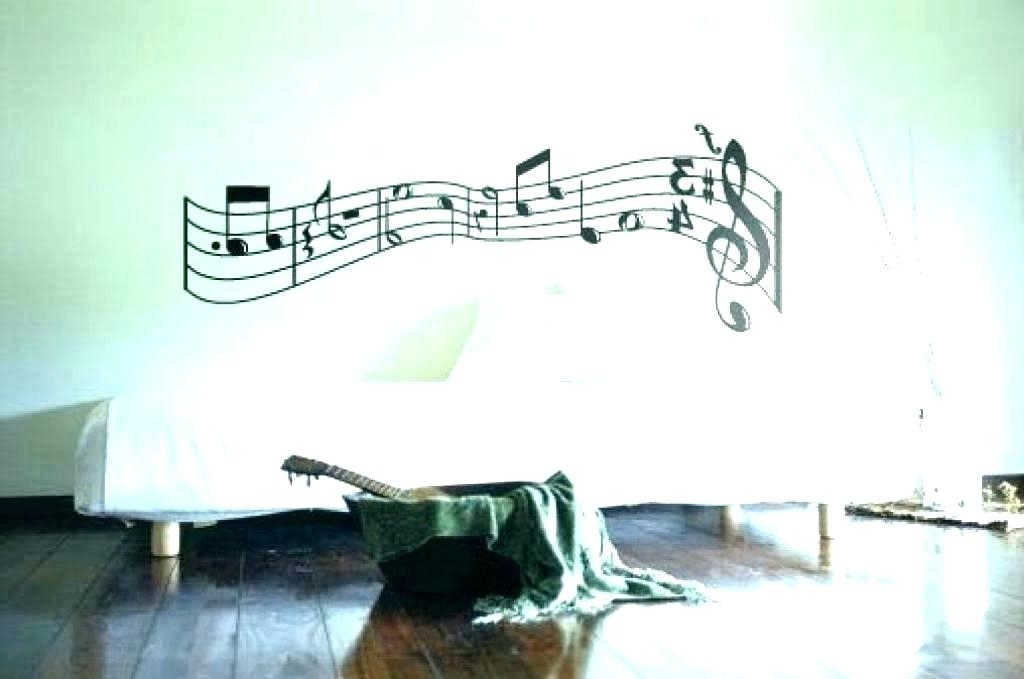 Music Themed Wall Art Pertaining To Most Recent Music Themed Wall Art Music Themed Decor Music Decor Note Music Wall (View 11 of 15)