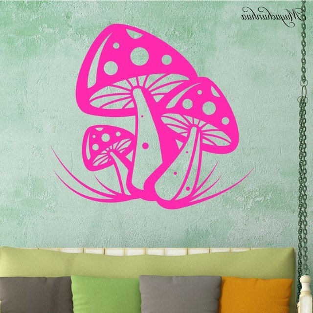 Muyuchunhua Beautiful Mushroom Stickers For Home Decor Kids Room Regarding Widely Used Mushroom Wall Art (View 11 of 15)