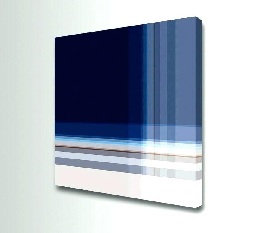Navy Blue Wall Art Decor Dark Flower – Ideaction (View 9 of 15)