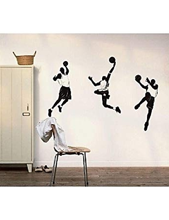Nba Wall Murals With Regard To Most Recently Released Uk Basketball Nba Fan Wall Stickers Wall Decals Wall Murals , Black (View 13 of 15)