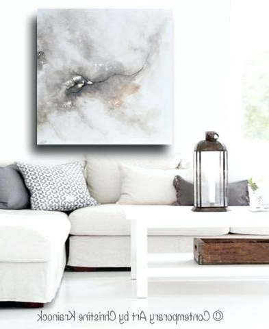 Neutral Abstract Wall Art Inside Well Liked Modern Large Wall Art Print Art Abstract Grey White Painting Diptych (View 8 of 15)