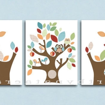 Neutral Nursery Canvas Art Baby Room From Artbynataera On Etsy With Well Known Etsy Childrens Wall Art (View 12 of 15)
