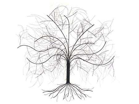 New – Contemporary Metal Wall Art Sculpture – Large Oak Tree: Amazon In Favorite Metal Oak Tree Wall Art (View 9 of 15)
