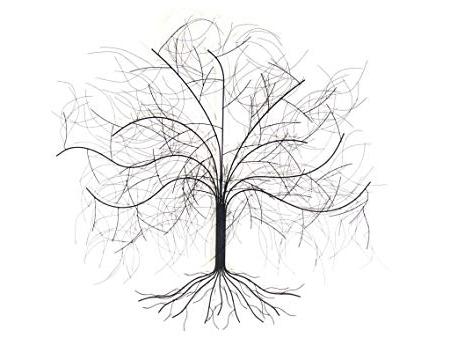 New – Contemporary Metal Wall Art Sculpture – Large Oak Tree: Amazon In Favorite Metal Oak Tree Wall Art (Gallery 9 of 15)