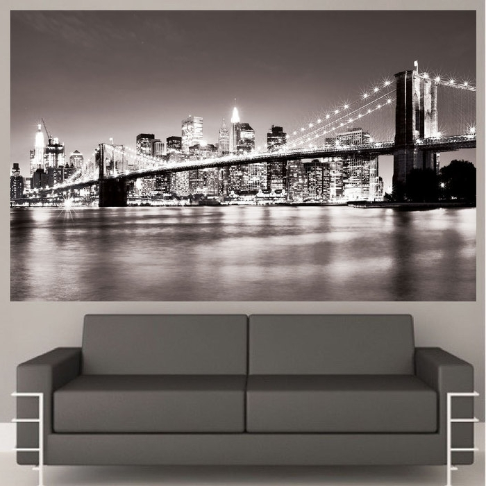 New York 3D Wall Art For Well Known 13. Luxury Idea New York Wall Art Home Design Ideas Decal Mural Nyc (Gallery 5 of 15)