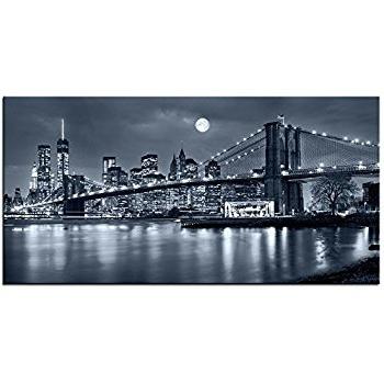 New York 3D Wall Art Inside Best And Newest Brooklyn Bridge Wall Art – Arsmart (Gallery 7 of 15)