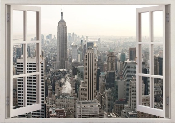 New York 3D Wall Art Regarding Best And Newest New York Wall Sticker 3D Window New York Wall Decal Ny For (Gallery 1 of 15)