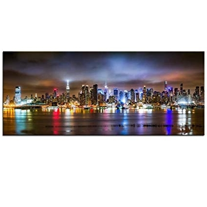 New York City Canvas Wall Art For 2017 Amazon: Sea Charm – New York City Canvas Wall Art, Manhattan (Gallery 9 of 15)