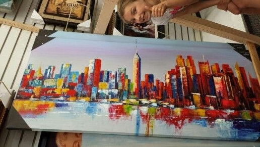 New York Skyline Acrylic Painting At Burlington Coat Factory With Regard To Most Recently Released Burlington Coat Factory Wall Art (View 2 of 15)