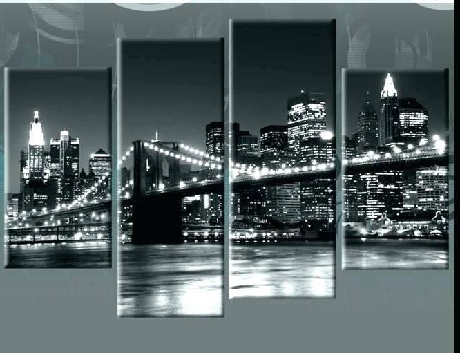 New York Skyline Canvas Black And White Wall Art Regarding Popular New York City Canvas Wall Art New York City Canvas Wall Art Ikea (View 11 of 15)