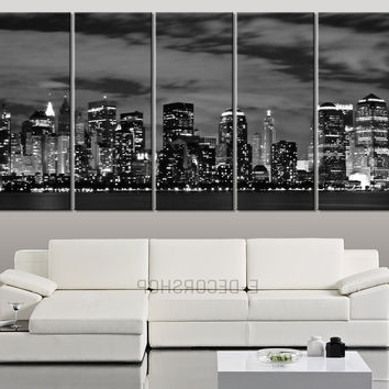 New York Skyline Canvas Black And White Wall Art With Most Recently Released Best New York Skyline Wall Decor Products On Wanelo (View 12 of 15)