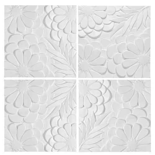 Newdecor White Blossom 3D Wall Art & Reviews (View 7 of 15)
