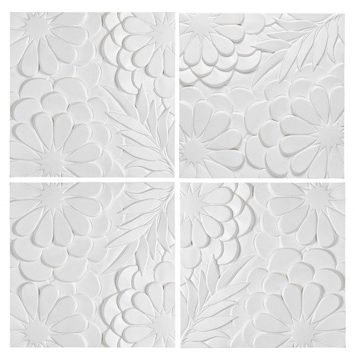 Newdecor White Blossom 3D Wall Art & Reviews (Gallery 7 of 15)