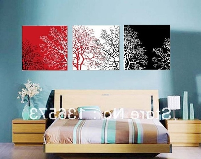 Newest 3 Piece Wall Art Sets Handmade Modern Abstract Still Life Black Regarding Black And White Wall Art Sets (View 11 of 15)