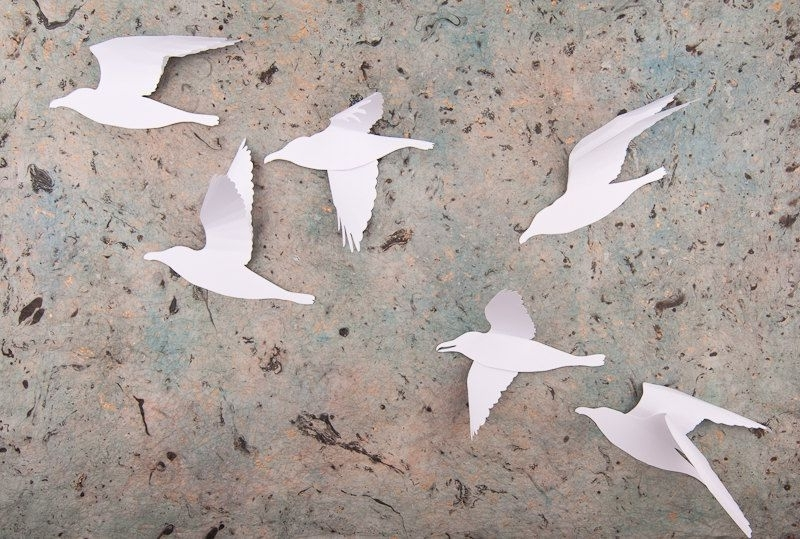 Featured Photo of White Birds 3D Wall Art