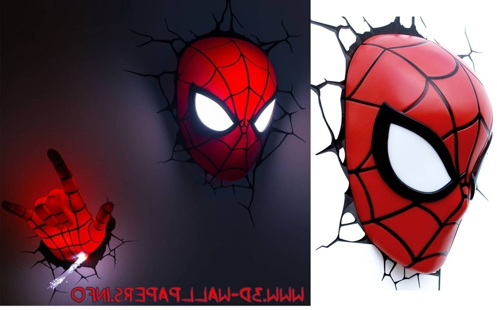 Newest 3D Wall Art Night Light Spiderman Hand With Regard To 20 Inspirations Of 3D Wall Art Night Light Spiderman Hand With (View 12 of 15)