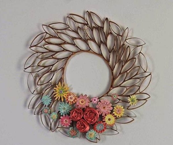 Newest 3D Wall Art With Paper Intended For Diy 3D Paper Roll Flower Wall Art (View 14 of 15)