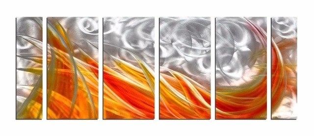 Newest Abstract Aluminium Wall Art With Aliexpress : Buy Original Modern Aluminum Wall Art Abstract (View 8 of 15)