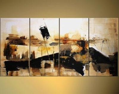Newest Abstract Landscape Wall Art In Abstract Landscape Modern Canvas Oil Painting Wall Art With (Gallery 7 of 15)