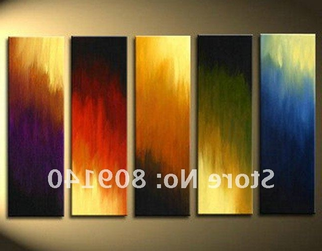 Newest Abstract Oil Painting Canvas Artwork Quality Handmade Modern Inside Abstract Office Wall Art (View 2 of 15)