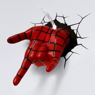 Newest Amazon: 3D Wall Art Nightlight – Spiderman Hand: Home & Kitchen For 3D Wall Art Night Light Spiderman Hand (View 13 of 15)