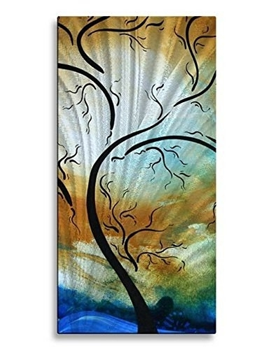 Newest Amazon: Metal Wall Hanging Contemporary Artwork Wall Sculpture With Regard To Megan Duncanson Metal Wall Art (Gallery 9 of 15)