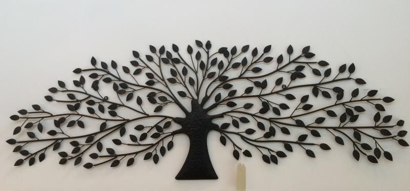 Newest Antiqued Brown / Bronze Coloured Metal Tree Wall Art. Fabulous With Regard To Bronze Tree Wall Art (Gallery 1 of 15)