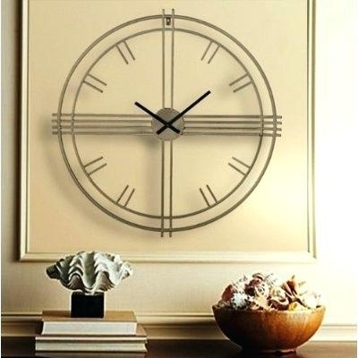 Newest Art Deco Wall Clock Stupendous Art Wall Clock Modest Ration Art Wall With Regard To Art Deco Wall Clocks (View 10 of 15)