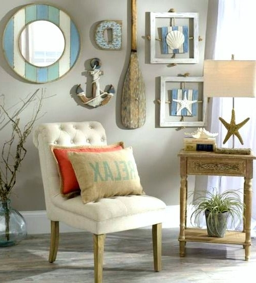 Newest Beach Themed Wall Decor 711 Best Art For Coastal Homes Images On Within Beach Cottage Wall Art (Gallery 5 of 15)