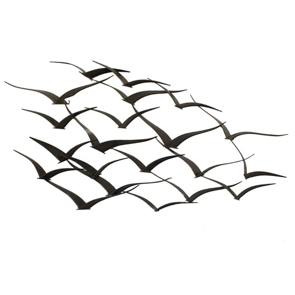 Newest Birds In Flight Metal Wall Art Intended For Shop Handcrafted Flock Of Metal Flying Birds Wall Art – On Sale (Gallery 7 of 15)