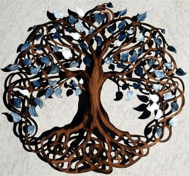 Newest Celtic Tree Of Life Metal Wall Decor With Celtic Tree Of Life Wall Art (View 6 of 15)