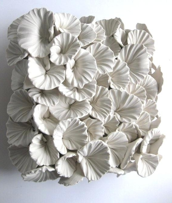 Newest Ceramic Flower Wall Decor Photo 3 Of Awesome Ceramic Wall Flower Inside Ceramic Flower Wall Art (View 11 of 15)