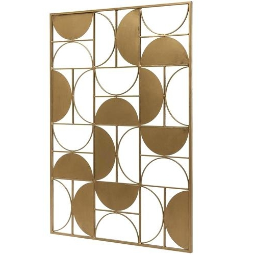 Newest Circle Bubble Wave Shaped Metal Abstract Wall Art With Circle Metal Wall Art Abstract Bubble Wave Shaped Athena Gold Leaf (View 9 of 15)