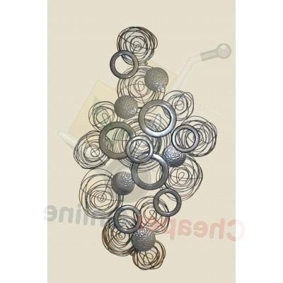 Newest Circle Metal Wall Art Metal Circles Wall Art Living Room Half Circle Inside Circle Bubble Wave Shaped Metal Abstract Wall Art (View 13 of 15)