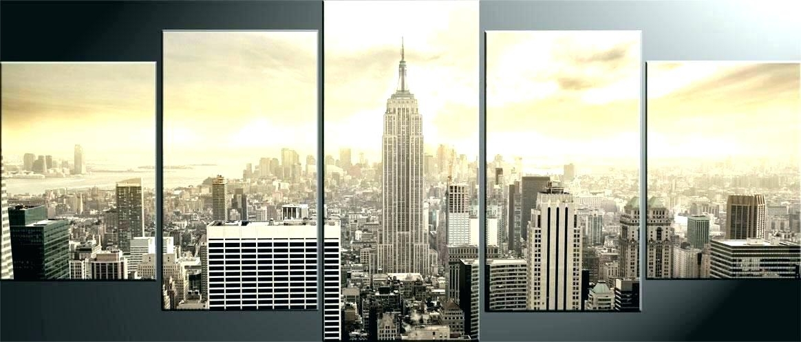 Newest City Canvas Art New City Skyline Canvas London City Canvas Wall Art Within Cityscape Canvas Wall Art (View 13 of 15)