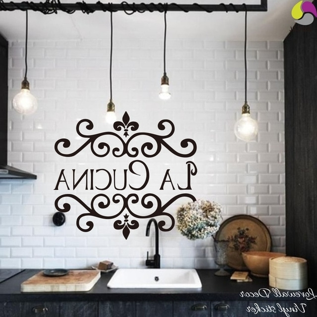 Newest Cucina Wall Art Decors Pertaining To La Cucina Kitchen Wall Sticker Italian Kitchen Quote Wall Decor (View 2 of 15)