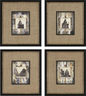 Newest Dome Tiles Framed Wall Art Set Of Framed Art Wall Decor With Within Brown Framed Wall Art (View 5 of 15)