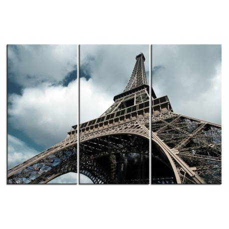 Newest Eiffel Tower In Black And White – Paris Wall Art Triptych – Home Regarding Black And White Paris Wall Art (View 13 of 15)