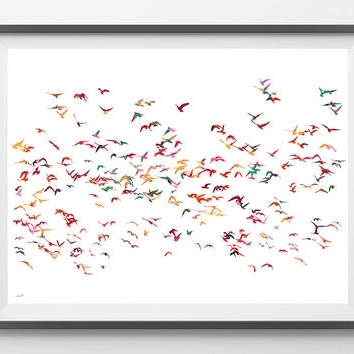 Newest Flock Of Birds Wall Art Within Best Flock Of Birds Wall Decor Products On Wanelo (View 11 of 15)