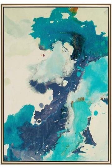 Newest Framed Abstract Wall Art Regarding Exhale Blue Framed Wall Art (Gallery 10 of 15)