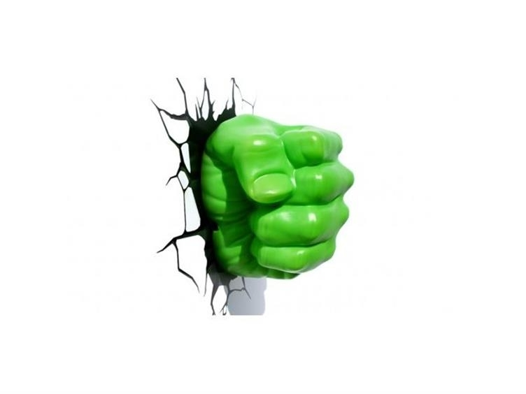 Newest Hulk Hand 3D Wall Art Inside Marvel Comics 3D Led Wall Decal – Hulk Fist (Gallery 10 of 15)