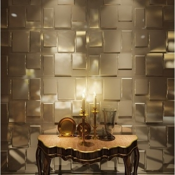 Newest Interior Decoration Pvc 3D Wall Panel For Bathroom Wall Covering Intended For 3D Wall Covering Panels (Gallery 2 of 15)